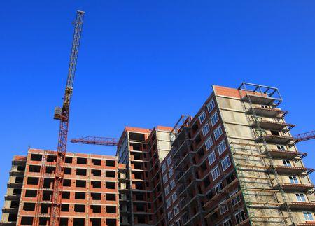 crane parts: Casa en construcci�n  Foto de archivo