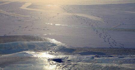 Frozen Lake Baikal photo