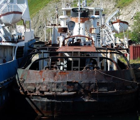 Part of the two old ships.  photo