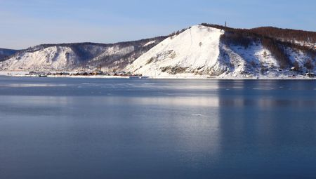 Lake Baikal. Winter.  Stock Photo - 6372213