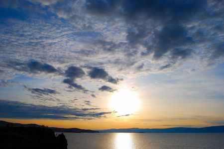 Sunset. Lake Baikal.  photo