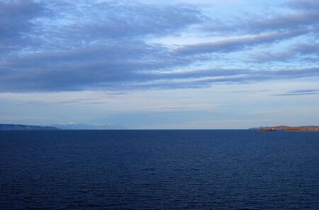 Lake Baikal. Twilight.  photo