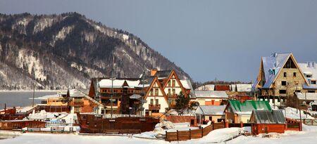 settlement: Listvyanka settlement, Lake Baikal, Russia.