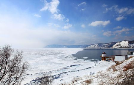 Lake Baikal. Spring.  photo