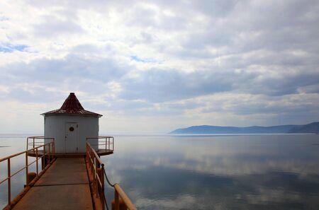 Melting Lake Baikal in spring. Day. Nobody.  photo