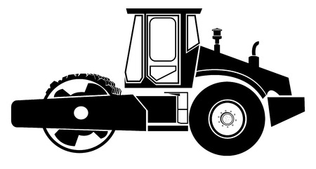 roller compactor: Road roller  Illustration