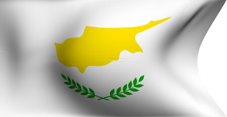 Flag of Cyprus against white background. Close up.  photo