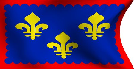 Flag of Berry, France against white background. Close up.  photo