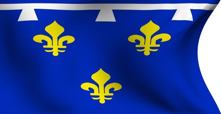 Flag of Orleans, France against white background. Close up.  photo