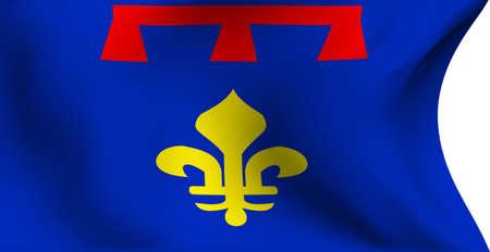 Flag of Provence, France against white background. Close up.  photo