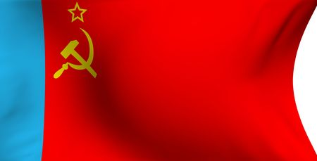 communistic: Flag of Russian SFSR (1954-1991) against white background.  Stock Photo