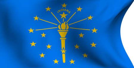 indiana: Flag of Indiana, USA against white background.
