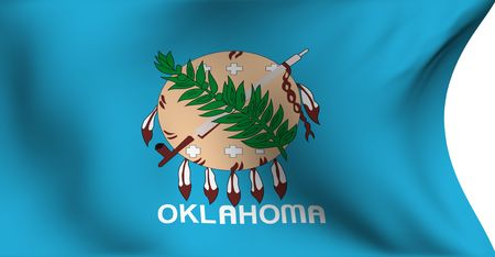Flag of Oklahoma, USA against white background.  photo