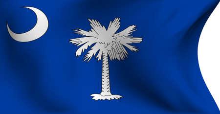Flag of South Carolina, USA against white background.  photo