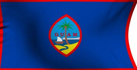 guam: Flag of Guam against white background. Close up.