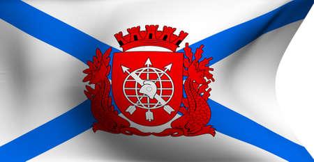 Flag of Rio de Janeiro against white background.  Stock Photo - 8250520