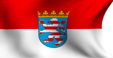 hessen: Flag of Hessen, Germany against white background.  Stock Photo