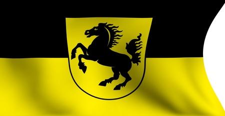 stuttgart: Flag of Stuttgart city, Germany against white background.