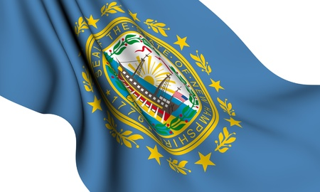 Flag of New Hampshire, USA against white background.  photo