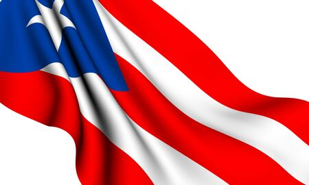puertorico: Flag of Puerto Rico against white background. Close up.