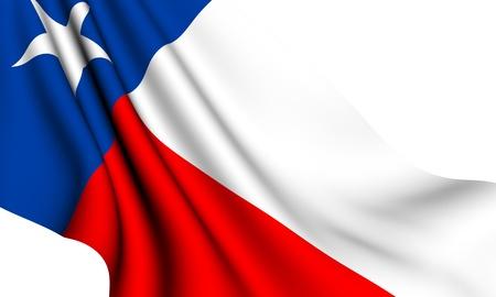 Flag of Texas, USA against white background.  Stock Photo