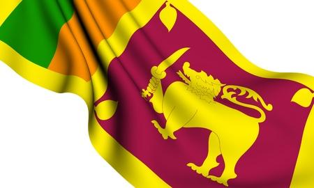 lanka: Flag of Sri Lanka against white background. Close up.  Stock Photo