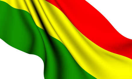 Flag of Bolivia against white background. Close up.  photo