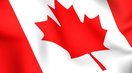 canadian flag: Flag of Canada. Close up. Front view.