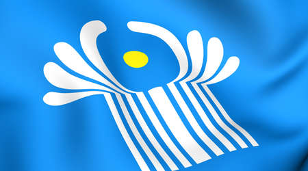 commonwealth: Flag of Commonwealth of Independent States. Close up.