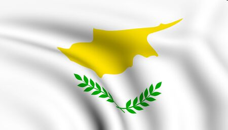 Flag of Cyprus. Close up. Front view.  photo