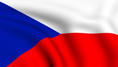 republic: Flag of Czech republic. Close up. Front view.