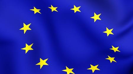 eu: Flag of EU. Close up. Front view.