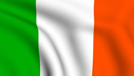 Flag of Ireland. Close up. Front view.  Stock Photo - 8445325