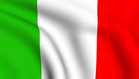 bandera italia: Bandera de Italia. Close up. Vista frontal.