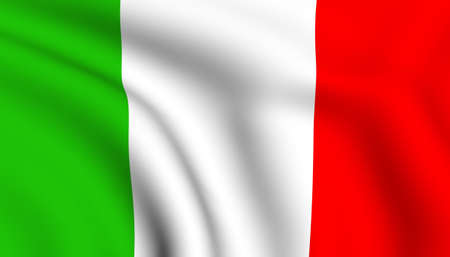 italien flagge: Flag of Italy. Close up. Frontansicht.  Lizenzfreie Bilder