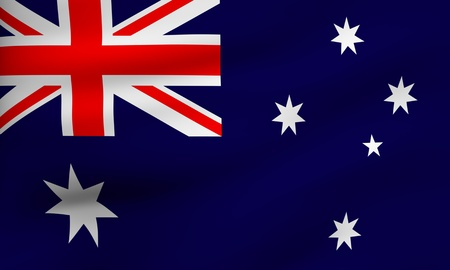 flag australia: Flag of Australia.