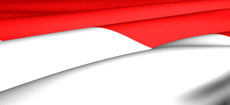 Flag of Indonesia. Close up. Front view. Stock Photo - 8679337