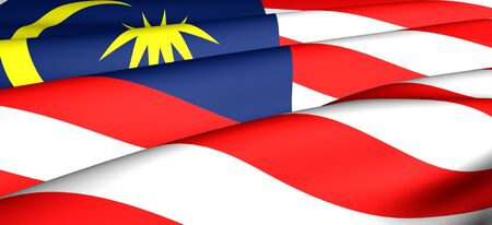 Flag of Malaysia. Close up. Front view.  Stock Photo - 8679352