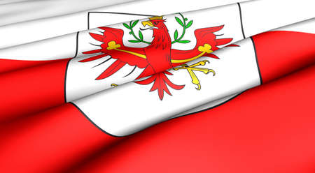 tyrol: Flag of Tyrol. Close up. Front view.  Stock Photo