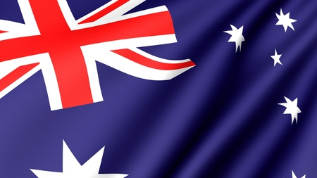 flutter: Flag of Australia. Close-up. Front view.