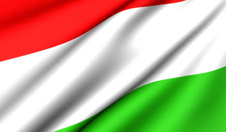 Flag of Hungary. Close up. Front view.  photo