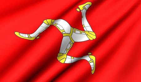 man close up: Flag of Man. Close up. Front view.