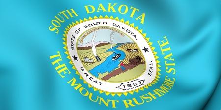 dakota: Flag of South Dakota, USA. Close up.
