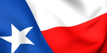 Flag of Texas, USA. Close up. 3d