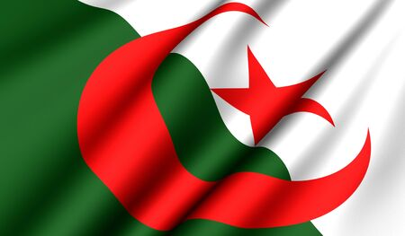 Flag of Algeria. Close up. Front view.  Stock Photo - 8754459