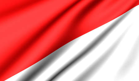 Flag of Indonesia. Close up. Front view.  Stock Photo - 8754475