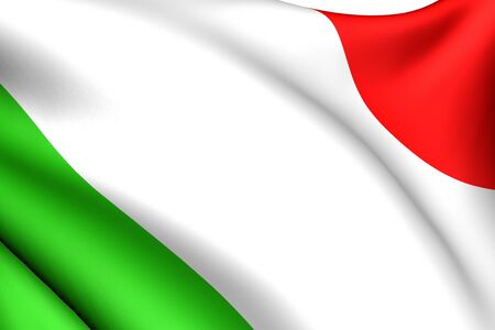 eu flag: Flag of Italy against white background. Close up.  Stock Photo