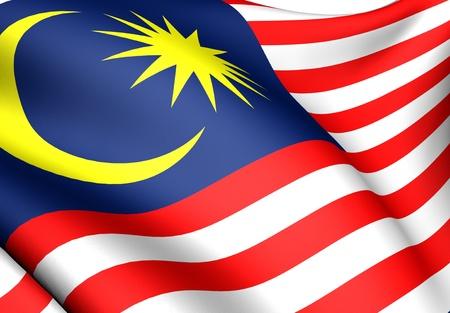 Vlag van Maleisië. Close up. Vooraanzicht.  Stockfoto - 8754508