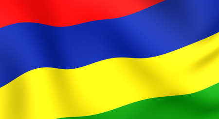 mauritius: Flag of Mauritius. Close up. Front view.