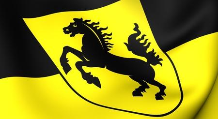 stuttgart: Flag of Stuttgart city, Germany. Close up.